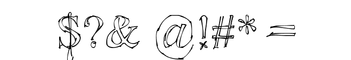 !Sketchy Times Font OTHER CHARS