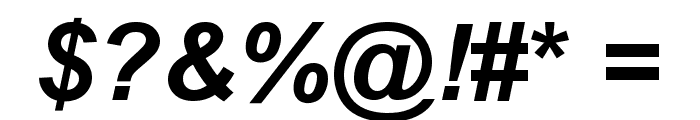 .VnArialH Bold Italic Font OTHER CHARS