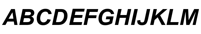.VnArialH Bold Italic Font LOWERCASE