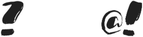 1 bold brush otf (700) Font OTHER CHARS
