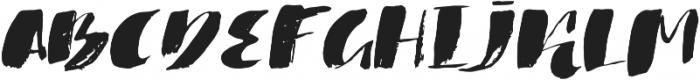 1 bold brush otf (700) Font UPPERCASE