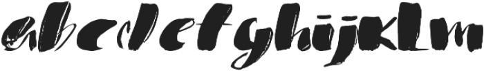 1 bold brush otf (700) Font LOWERCASE