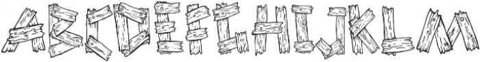 1 old wooden font otf (400) Font UPPERCASE