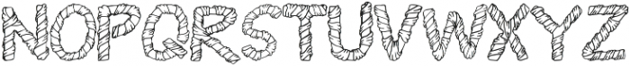 1 wrapped in ribbon font otf (400) Font UPPERCASE