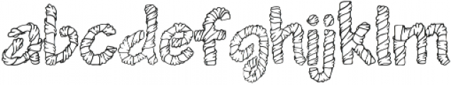 1 wrapped in ribbon font otf (400) Font LOWERCASE