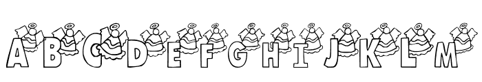 101! Angelic Alpha Font LOWERCASE