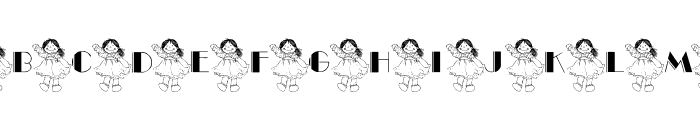 101! Ashleigh's Dolly Font LOWERCASE