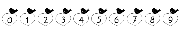 101! Birdie LuV Font OTHER CHARS