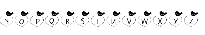 101! Birdie LuV Font UPPERCASE