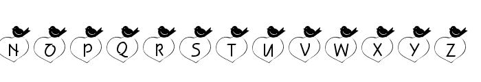 101! Birdie LuV Font LOWERCASE