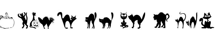 101! Black KatZ Font LOWERCASE