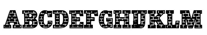 101! Brick Layer Font UPPERCASE