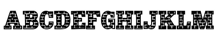 101! Brick Layer Font LOWERCASE