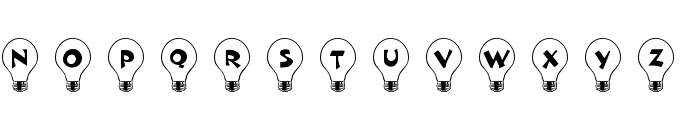 101! Bright Idea Font UPPERCASE