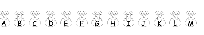 101! Bunny Hug Font UPPERCASE