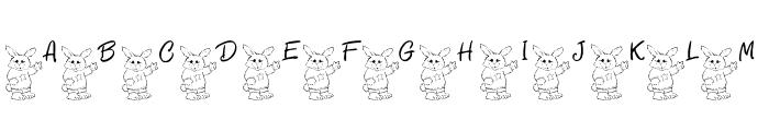 101! Bunny SayZ... Font UPPERCASE