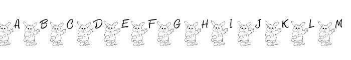 101! Bunny SayZ... Font LOWERCASE