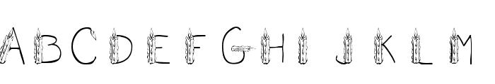 101! CandleZ Font UPPERCASE