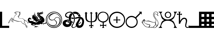 101! Celtic Astrologer Font UPPERCASE