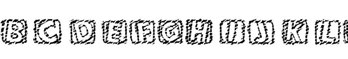101! Chiseled 'Bet Font UPPERCASE
