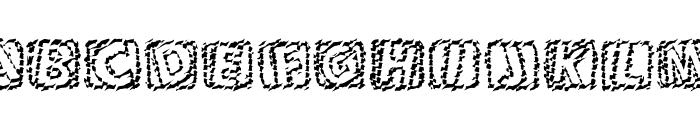 101! Chiseled 'Bet Font LOWERCASE