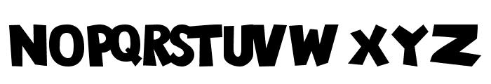 101! Chunky Alpha Font UPPERCASE