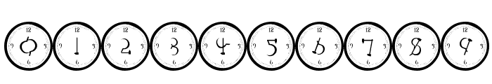 101! Clock Face Font OTHER CHARS