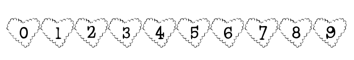 101! Cloudy HeartZ Font OTHER CHARS