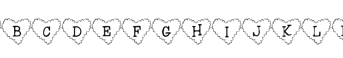 101! Cloudy HeartZ Font LOWERCASE