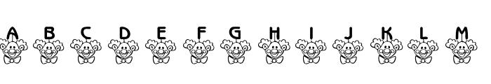 101! ClownZ Beanie Font LOWERCASE
