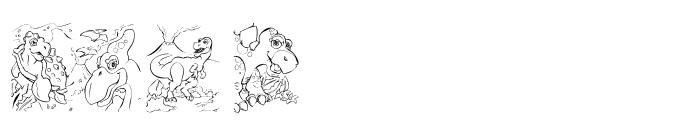 101! Color Fill  DinoZ Font UPPERCASE