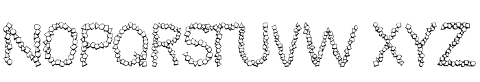 101! Confetti LetterZ Font UPPERCASE