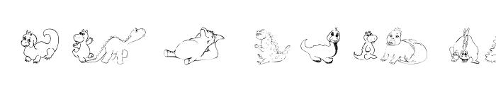 101! Cute DinoZ Font LOWERCASE