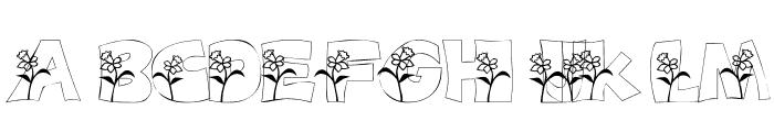101! DaffYDilZ Font UPPERCASE