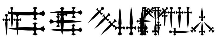 101! Dagger 'Bet Font UPPERCASE