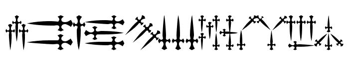 101! Dagger 'Bet Font LOWERCASE