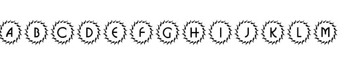 101! Deco Type 1 Font UPPERCASE