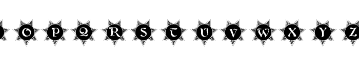 101! Decorative Sun Font UPPERCASE