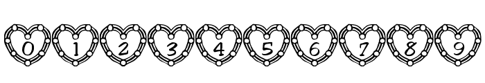 101! Heart Deco Font OTHER CHARS
