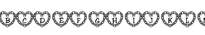 101! Heart Deco Font UPPERCASE