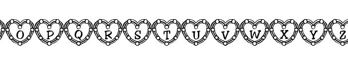 101! Heart Deco Font LOWERCASE