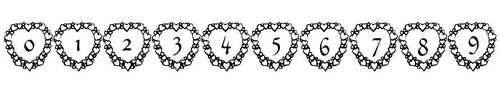101! Heart Framed Font OTHER CHARS