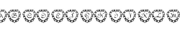 101! Heart Framed Font UPPERCASE