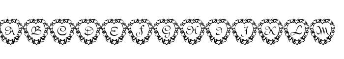 101! Heart Framed Font LOWERCASE