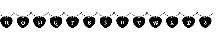 101! Heart StringZ Font LOWERCASE