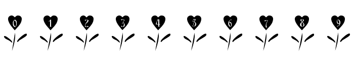 101! Love Garden Font OTHER CHARS