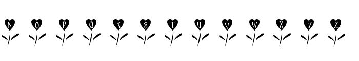 101! Love Garden Font UPPERCASE