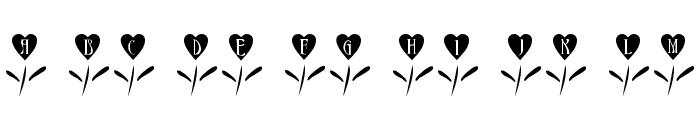 101! Love Garden Font LOWERCASE