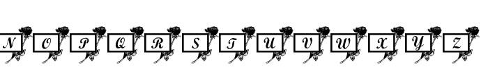 101! Rose Cards Font UPPERCASE