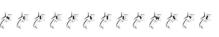 101! Shooting StarZ Font LOWERCASE